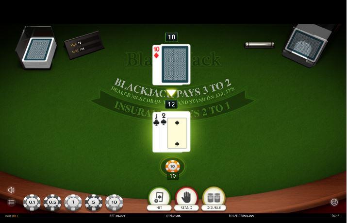 blackjack nos cassinos online